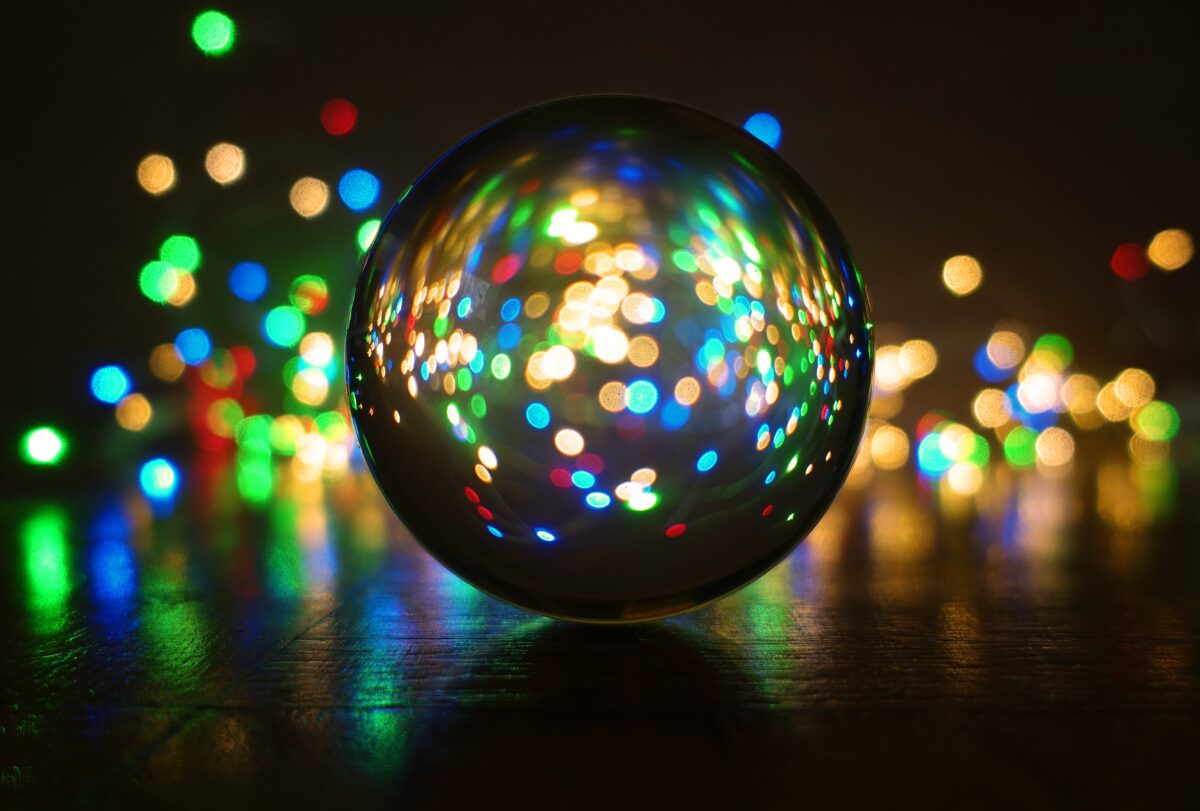 crystal ball-photography, ball, lights