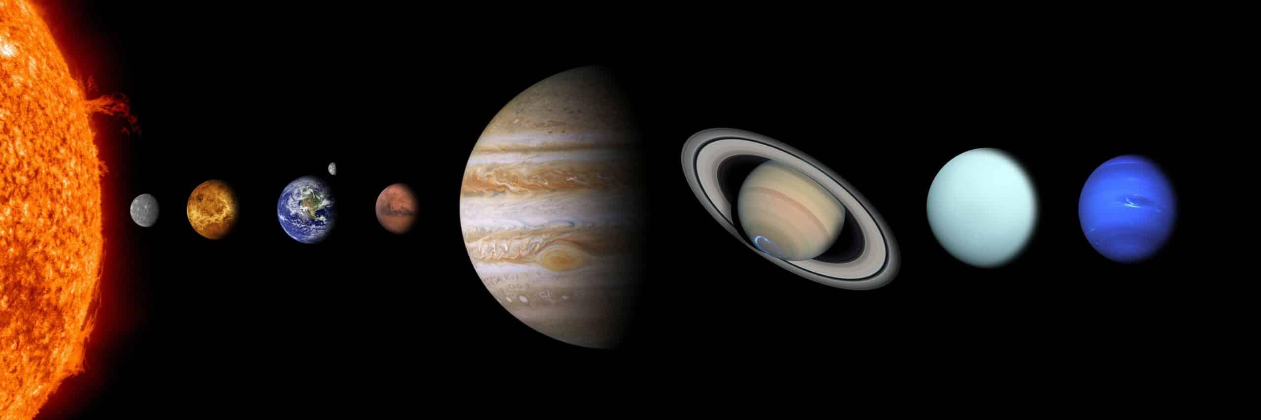 solar system, sun, mercury