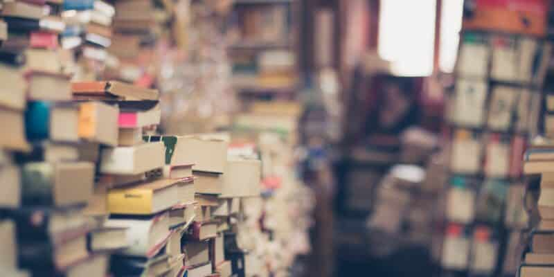 books, stack, book store